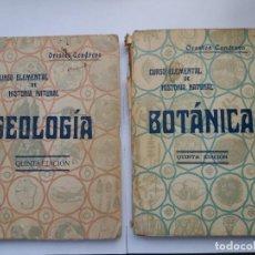 Libros antiguos: CURSO ELEMENTAL DE HISTORIA NATURAL. BOTÁNICA Y GEOLOGÍA. ORESTES CENDRERO. 1926-1927.. Lote 166552810