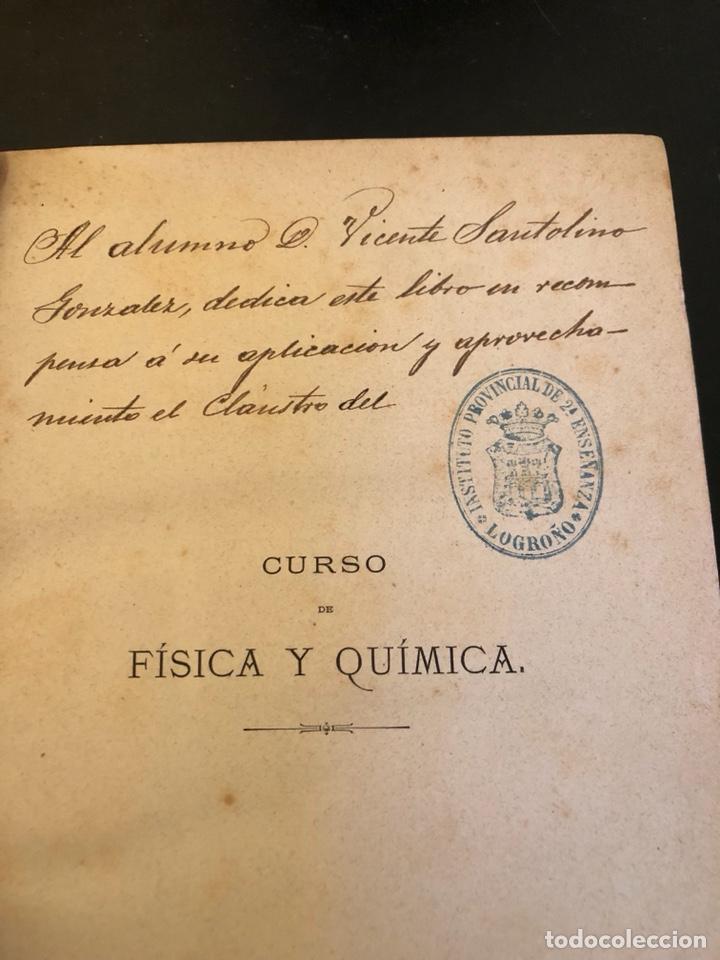 Libros antiguos: Libro curso de física y química 1883 - Foto 3 - 166560514