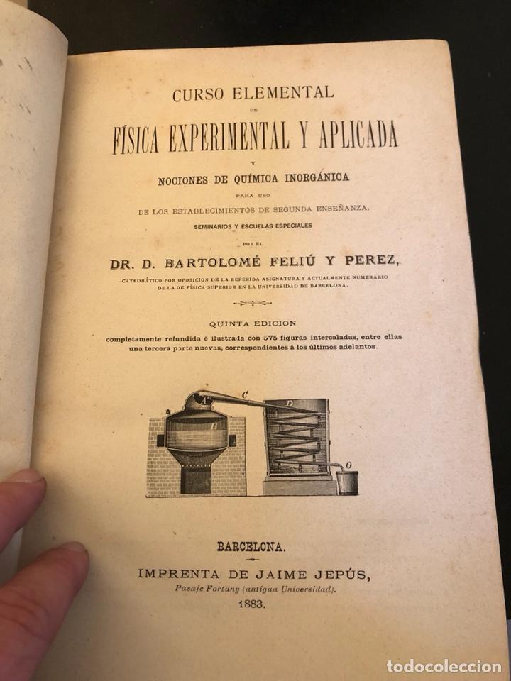 Libros antiguos: Libro curso de física y química 1883 - Foto 4 - 166560514