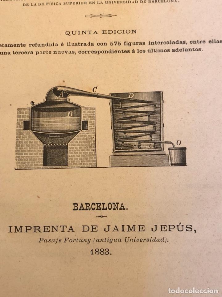 Libros antiguos: Libro curso de física y química 1883 - Foto 5 - 166560514