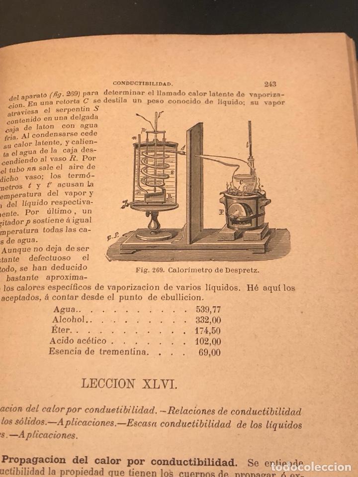 Libros antiguos: Libro curso de física y química 1883 - Foto 7 - 166560514