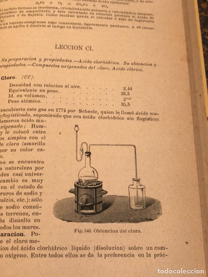 Libros antiguos: Libro curso de física y química 1883 - Foto 10 - 166560514