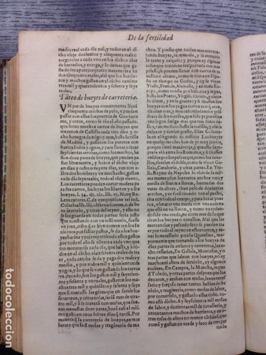 Libros antiguos: LIBRO DE AGRICULTURA, TRATADO LABRANZA, DE ALONSO DE HERRERA, 1605 - Foto 7 - 166596950