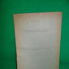 Libros antiguos: NOTA ACERCA DE LA EXISTENCIA DE ARAGONITO EN LOS ALREDEDORES DE CABRA (CÓRDOBA), J. CARANDELL, 1919. Lote 166911524