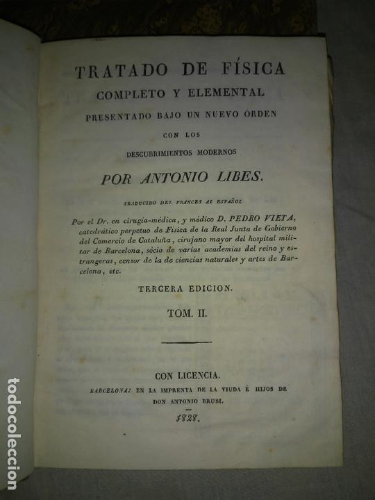 Libros antiguos: TRATADO DE FISICA COMPLETO - AÑO 1827 - ANTONIO LIBES - PLANCHAS GRABADAS. - Foto 9 - 167544028