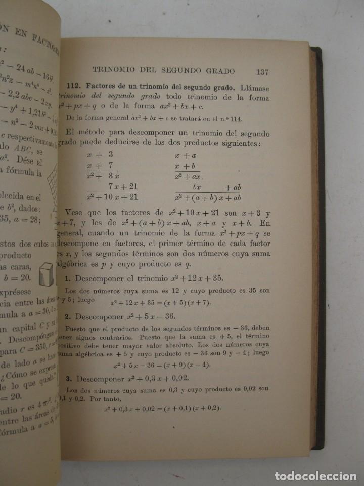 Libros antiguos: ELEMENTOS DE ÁLGEBRA - WENTWORTH Y SMITH - GINN Y COMPAÑÍA - AÑO 1917. - Foto 2 - 167717992