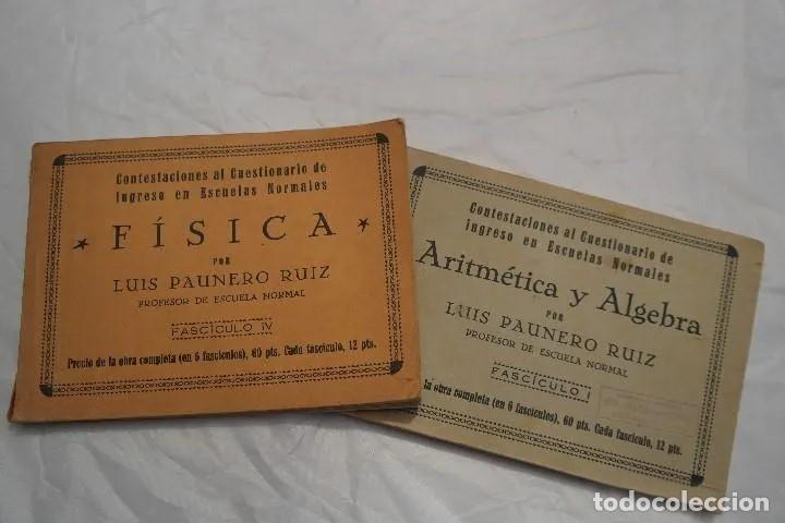 LOTE LIBROS DEL PROFESOR 1934 (Libros Antiguos, Raros y Curiosos - Ciencias, Manuales y Oficios - Física, Química y Matemáticas)