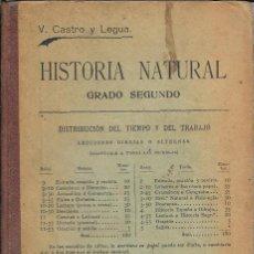 Libros antiguos: HISTORIA NATURAL GRADO SEGUNDO 1918 . Lote 168076644