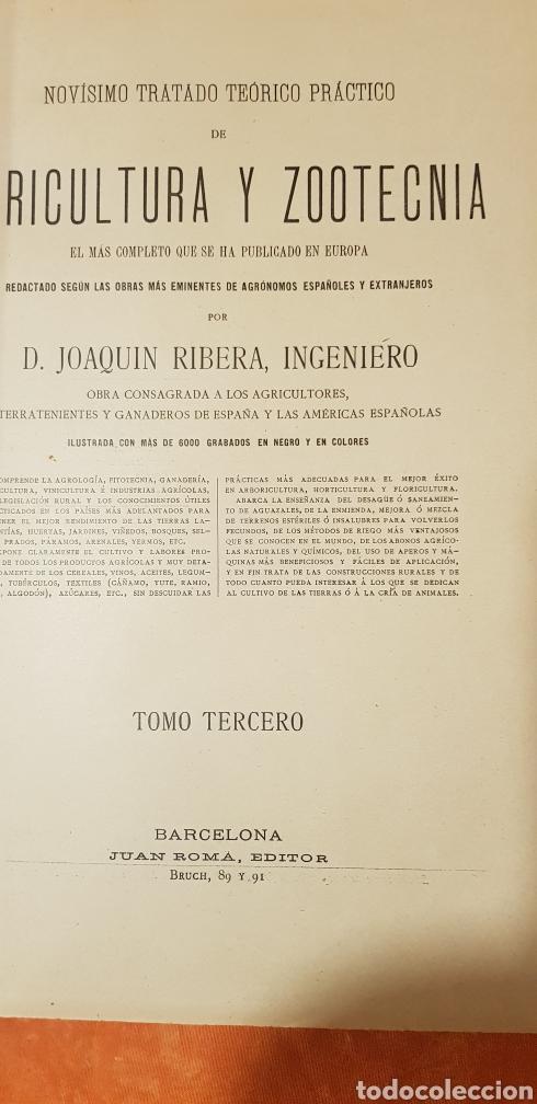 Libros antiguos: TRATADO DE AGRICULTURA Y ZOOTECNICA,5 TOMOS COMPLTA,1889- - Foto 4 - 168457249