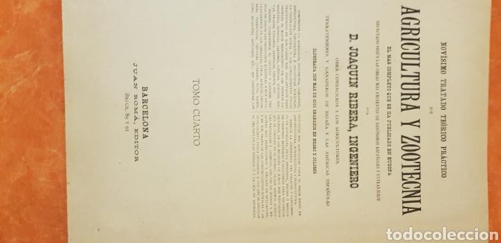 Libros antiguos: TRATADO DE AGRICULTURA Y ZOOTECNICA,5 TOMOS COMPLTA,1889- - Foto 17 - 168457249