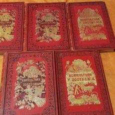 Libros antiguos: TRATADO DE AGRICULTURA Y ZOOTECNICA,5 TOMOS COMPLTA,1889-. Lote 168457249