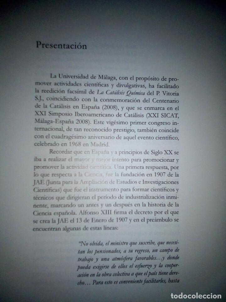Libros antiguos: La catálisis química. Sus teorías y elaboraciones en el...- P. Eduardo Vitoria S.J. - FACSÍMIL - Foto 5 - 168568892