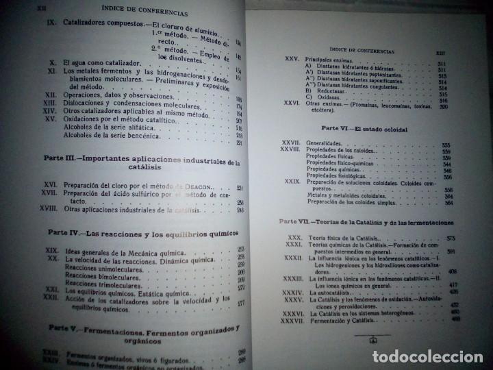 Libros antiguos: La catálisis química. Sus teorías y elaboraciones en el...- P. Eduardo Vitoria S.J. - FACSÍMIL - Foto 11 - 168568892