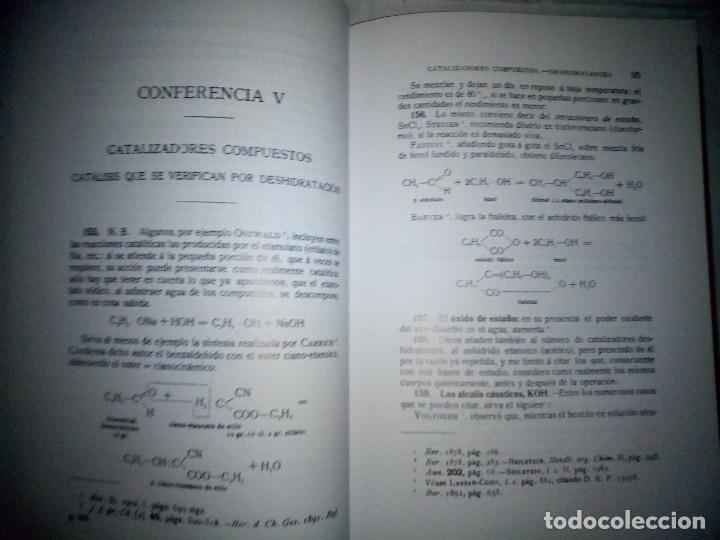 Libros antiguos: La catálisis química. Sus teorías y elaboraciones en el...- P. Eduardo Vitoria S.J. - FACSÍMIL - Foto 14 - 168568892