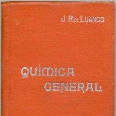 Libros antiguos: QUÍMICA GENERAL - MANUALES SOLER Nº 1 . Lote 169060560