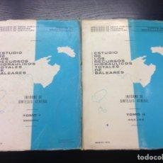 Libros antiguos: ESTUDIO DE LOS RECURSOS HIDRAULICOS TOTALES DE BALEARES, INFORME DE SINTESIS GENERAL, 1973 (2 TOMOS). Lote 169327780