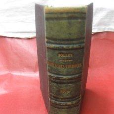 Libros antiguos: MANUEL PRATIQUE D'ESSAIS ET DE RECHERCHES CHIMIQUES APPLIQUES AUX ARTS ET A LÍNDUSTRIE. BOLLEY. 1869. Lote 169393468