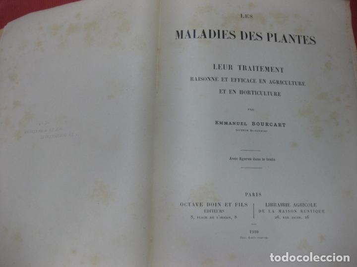 Libros antiguos: LES MALADIES DES PLANTES. LEUR TRAITEMENT . EMMANUEL BOUCART. LIBRAIRIE AGRICOLE 1910. - Foto 2 - 169399404