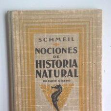 Libros antiguos: NOCIONES DE HISTORIA NATURAL - PRIMER GRADO (DR.OTTO SCHMEIL) - A.CABALLERO Y F.PARDILLO - AÑO 1926. Lote 169757600