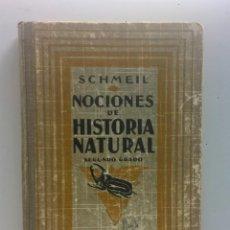 Libros antiguos: NOCIONES DE HISTORIA NATURAL (DR.SCHSEIL), POR F.PARDILLO Y A.CABALLERO (2º GRADO) - AÑO 1926. Lote 169772024
