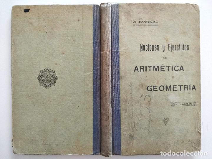 Libros antiguos: NOCIONES Y EJERCICIOS DE ARITMÉTICA - ANTONIO ROMERO RUBIRA - ALICANTE AÑO 1920 - Foto 2 - 169984312