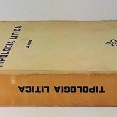 Libros antiguos: TIPOLOGÍA LÍTICA. SUPLEMENTO Nº4. JOSE MARIA MERINO. MUNIBE. SAN SEBASTÍAN. 1980.. Lote 170533880