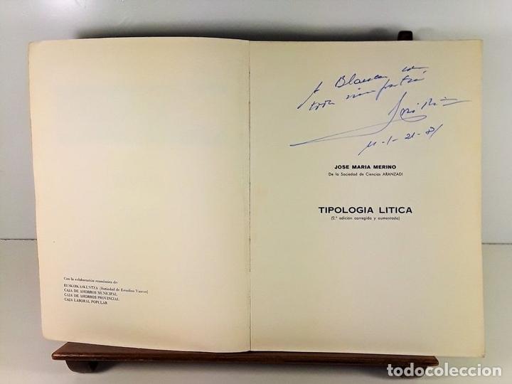 Libros antiguos: TIPOLOGÍA LÍTICA. SUPLEMENTO Nº4. JOSE MARIA MERINO. MUNIBE. SAN SEBASTÍAN. 1980. - Foto 3 - 170533880