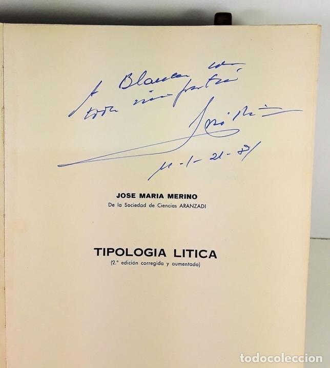 Libros antiguos: TIPOLOGÍA LÍTICA. SUPLEMENTO Nº4. JOSE MARIA MERINO. MUNIBE. SAN SEBASTÍAN. 1980. - Foto 4 - 170533880