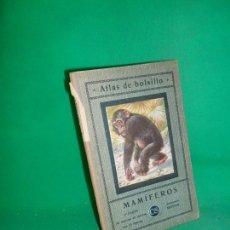 Libros antiguos: ATLAS DE MAMÍFEROS, 1ª Y 2ª PARTE, ED. SEITHER, 1923, 2 LIBROS. Lote 170854165