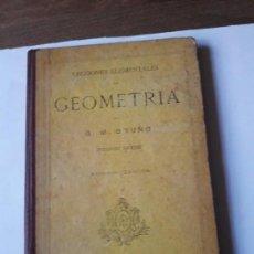 Libros antiguos: LECCIONES ELEMENTALES DE GEOMETRIA.G.M.BRUÑO.1930. Lote 171044855