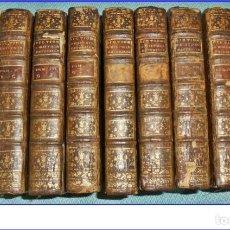 Libros antiguos: AÑO 1775. HISTORIA NATURAL. 9 TOMOS DEL SIGLO XVIII DE 21 CM. COMPLETO.. Lote 171679798
