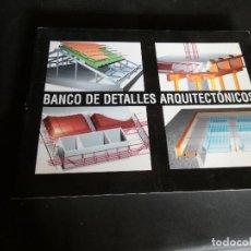 Libros antiguos: BANCO DE DETALLES ARQUITECTONICOS LIBRO DE GRAN TAMAÑO F. ALCAIDE . Lote 172002108