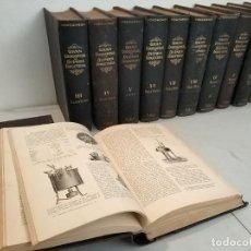 Libros antiguos: GRAN ENCICLOPEDIA QUIMICA INDUSTRIAL FRANCISCO SEIX 12 TOMOS AÑOS 20 COMPLETA. Lote 172084462
