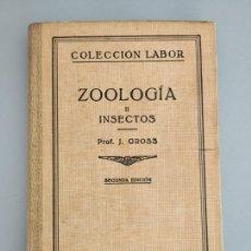 Libros antiguos: ZOOLOGÍA II INSECTOS, PROF. J. GROSS, 1935. Lote 172545345