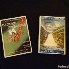 Libros antiguos: ANALISIS DE AGUAS Y CALENDARIO FITOPATOLOGICO, AÑOS 1940.BOTANICA,PLANTAS ENFERMEDADES. Lote 172675922