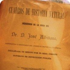 Libros antiguos: CUADROS DE HISTORIA NATURAL - PORTAL DEL COL·LECCIONISTA *****. Lote 172697510