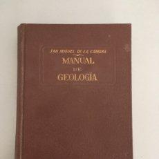 Libros antiguos: MANUAL DE GEOLOGIA, SAN MIGUEL DE LA CAMARA, EDITORIAL MARIN, 3ª EDICION 1938. Lote 196674176