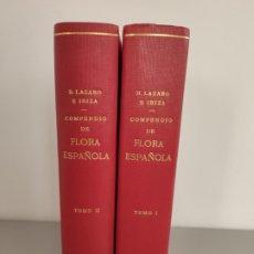 Libros antiguos: COMPEDIO DE FLORA ESPAÑOLA, 2 TOMOS, B.LAZARO E IBIZA. MADRID, 1906. Lote 172767959