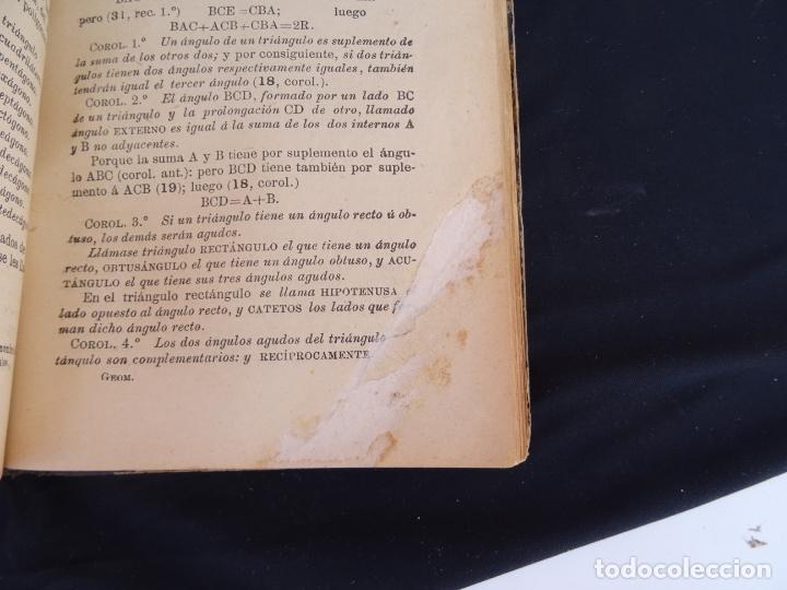 Libros antiguos: Año: 1905. Elementos de matematicas.Geometria.Trigonometria. Madrid. Oviedo - Foto 5 - 172814014