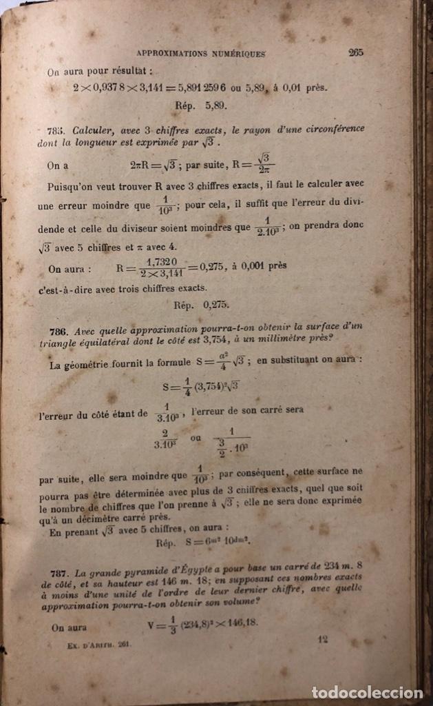 Libros antiguos: EXERCISES DARTIHMÉTIQUE. PAR F.G.M. Nº 261. PARIS, 1911. PAGINAS: 384. - Foto 2 - 172992492