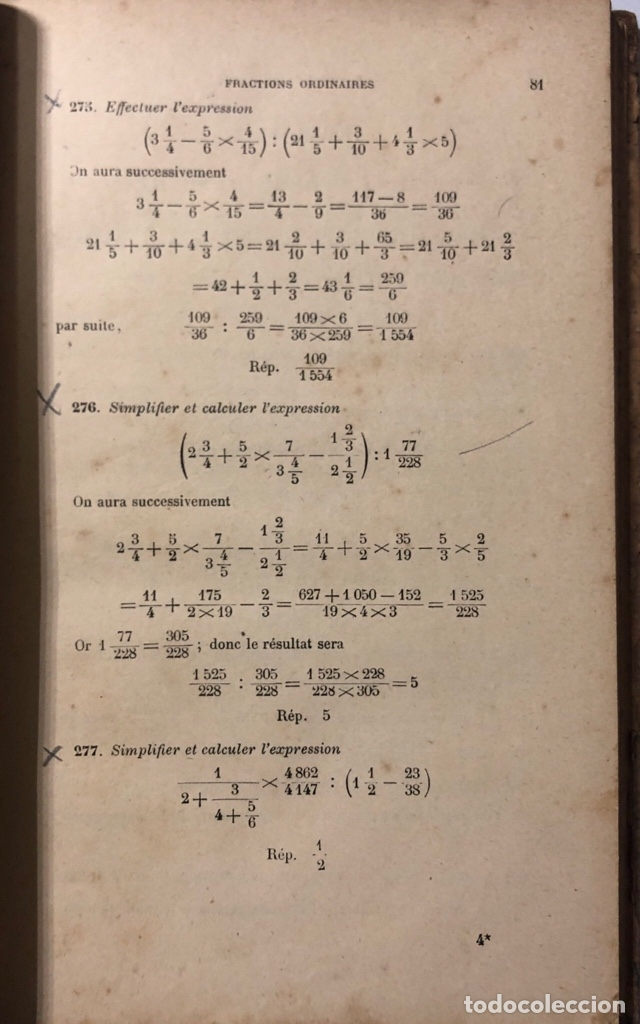 Libros antiguos: EXERCISES DARTIHMÉTIQUE. PAR F.G.M. Nº 261. PARIS, 1911. PAGINAS: 384. - Foto 4 - 172992492