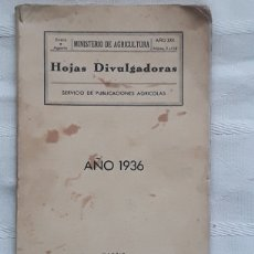Libros antiguos: HOJAS DIVULGADORAS. AÑO XXX 1936. AÑO COMPLETO. Lote 173051425