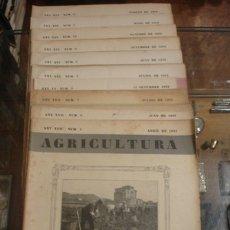 Libros antiguos: AGRICULTURA LOTE DE 10 REVISTAS - PORTAL DEL COL·LECCIONISTA******. Lote 173218044