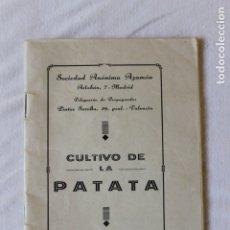 Libros antiguos: CULTIVO DE LA PATATA, VALENCIA 1934, SOCIEDAD ANONIMA AZAMON. Lote 173383025