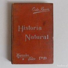 Libros antiguos: LIBRERIA GHOTICA. O. DE BUEN. HISTORIA NATURAL. MANUALES SOLER. 1910. MUY ILUSTRADO.. Lote 173604468