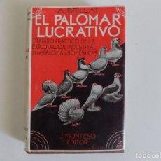 Libros antiguos: LIBRERIA GHOTICA. BRILLAT. EL PALOMAR LUCRATIVO.TRATADO PRÁCTICO DE LA EXPLOTACIÓN DE PALOMAS.1956. Lote 173998810