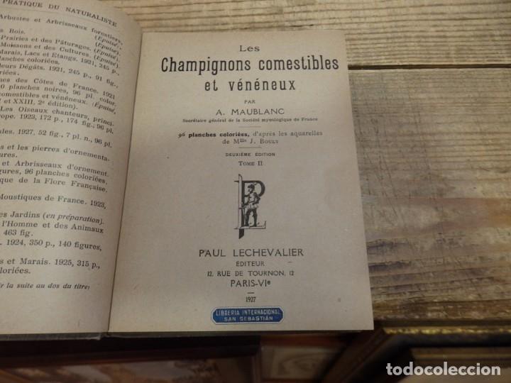 Libros antiguos: MICOLOGIA, LES CHAMPIGNONS DE FRANCE, 2 TOMOS, 1926 Y 1927, EN FRANCES, MAGNIFICO - Foto 6 - 174211167