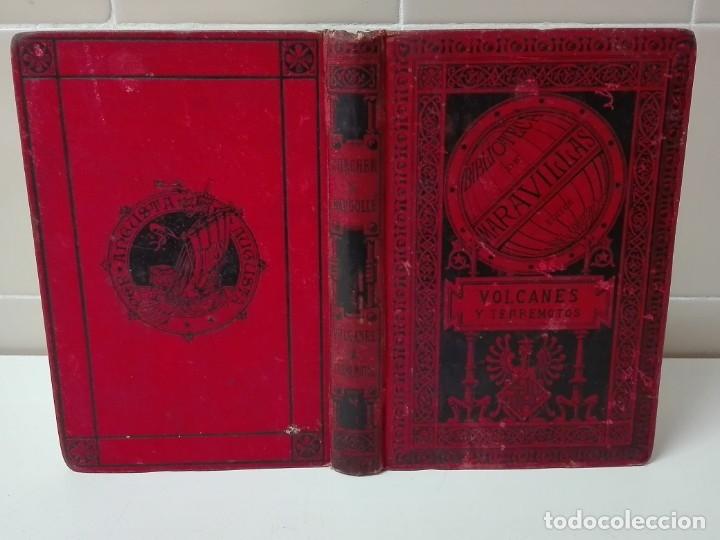 Libros antiguos: VOLCANES Y TERREMOTOS CECILIO NAVARRO 1885 ILUSTRADO - Foto 2 - 174686053