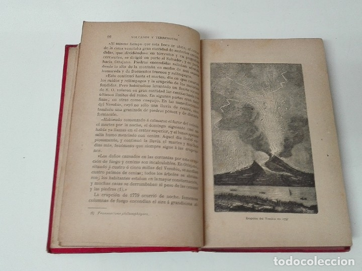 Libros antiguos: VOLCANES Y TERREMOTOS CECILIO NAVARRO 1885 ILUSTRADO - Foto 4 - 174686053