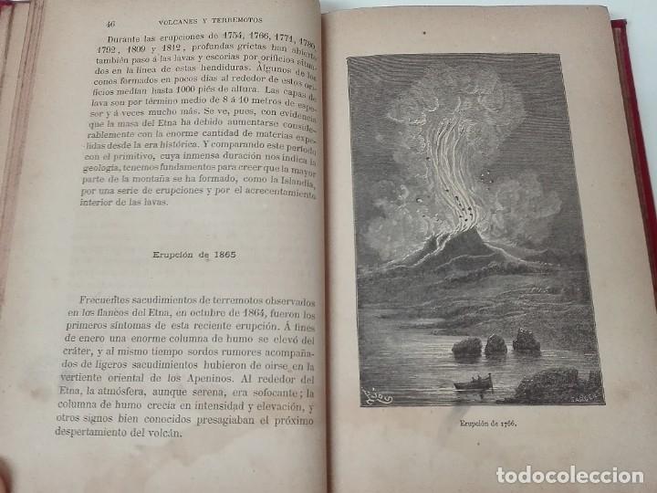 Libros antiguos: VOLCANES Y TERREMOTOS CECILIO NAVARRO 1885 ILUSTRADO - Foto 5 - 174686053